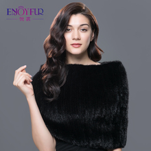 Winter brand new real fur scarves for women natural mink fur shawl shouder warm enough pashmina 2017 fashionable best seller(China)
