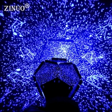 ZINUO DIY Sky Light LED Gift For Child LED Astro Starry Sky Star Projector Night Light Ocean Waves Celestial Cosmos Projection
