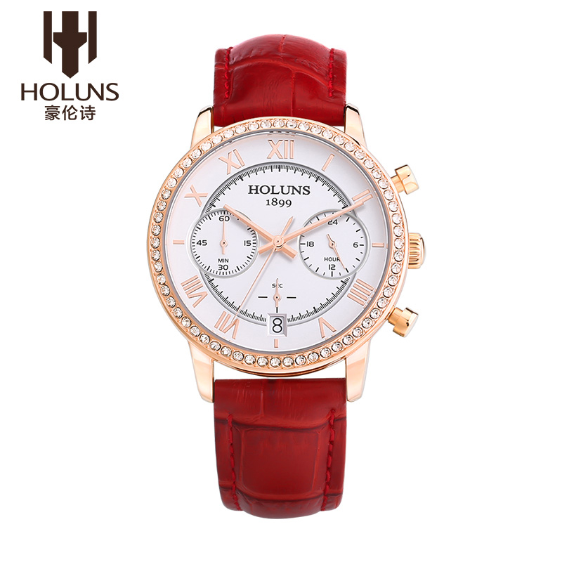 Holuns womens watches fashion quartz watch montre femme luxe dress watches relojes mujer with complete calendar clock <br><br>Aliexpress