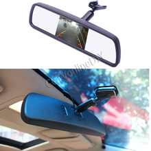 "ANSHILONG Special Bracket 4.3"" TFT LCD Color Car Rearview Mirror Monitor for Car Parking Rear View Assistance System"