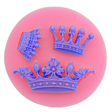 New 3D Baking Tools Wedding Cake Tiara Crown Shape DIY Fondant Silicone Molds for Cake Decorating Chocolate Candy Clay Resin