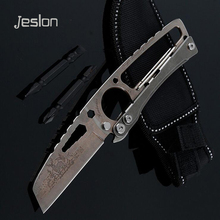 Jeslon Multi Folding Knife Portable Mechanical 7Cr17Mov Knife Camping Survival Pocket Knives Car Outdoor Camping Equipment Tools