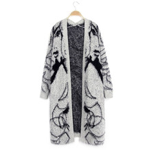 2017 Long Cardigan Sweater Women Ladies Jumper Knitwear Warm Thick Outerwear Cashmere Autumn Plus Size Winter Coat(China)