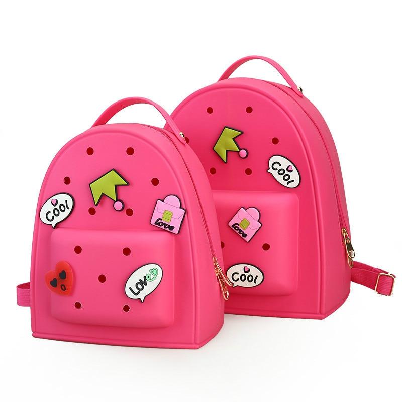 Women Jelly Graffiti Backpacks Designer Girls Pink Bag Travel Bags Children Kid Bookbag Small Candy Color Kawaii Cute Lolita Bag<br><br>Aliexpress