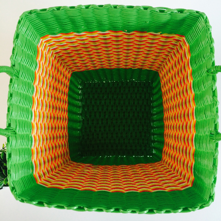 Dirty Clothes Basket Plastic Pipe Woven 4HQD (15)