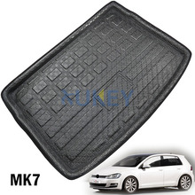 Fit For Volkswagen Golf 7 Mk7 Hatchback 2013 2014 2015 2016 2017 Rear Trunk Cargo Mat Tray Boot Liner Floor Carpet Protector Pad