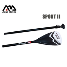 Black extendable paddle oar SUP AQUA MARINA stand up paddle board 3 section surfing board aluminium 165-210cm inflatable boat