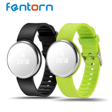 Fentorn UW1S Smart Bracelet Dynamic Heart Rate Monitor Call Messages reminder Blood pressure detect Translucent mirror Wristband(China)