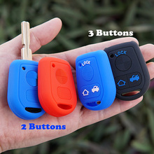 Silicone Rubber key fob cover cap set shell protect skin for BMW E31 E32 E34 E36 E38 E39 E46 Z3 OLD Remote 3 buttons ACCESSORIES(China)