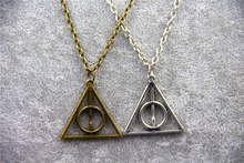 Fashion Jewelry HP Luna Triangle Deathly Hallows Geometric Pendant Necklace Wholesale