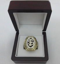 Factory direct sale wood boxes with 2014 Florida State FSU Seminoles ACC NCAA National custom Sports Replica Championship Rings