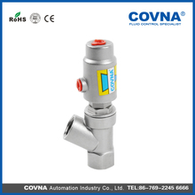 DN20 stainless steel 304 spring return pneumatic angle seat valve with factory price