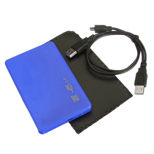 "COTS-2.5 ""SATA HDD HARD DISK HD USB 2.0 SLIM CASE BOX EXTERNAL DRIVE ADAPTER + CABLE"