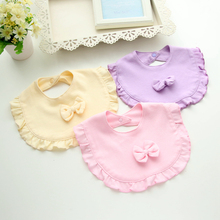 Baby Girl Bibs Ruffle Lace Flower Bibs With Bowknot Little Princess Burp Cloth Baby Feeding Apron Newborn Infant Shower Gifts