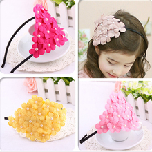 1PCS Princess Baby Flower Pearl Girl Headband Baby Headwear Children headbands Hair Band Elegant Baby Clothing Accessories