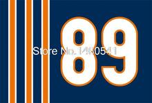 Chicago Bears No.89 Flag 3ft x 5ft Polyester NFL Bears Mike Ditka 89 Banner Flying Size No.4 144* 96cm(China)