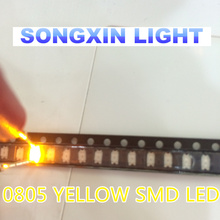 100pcs 0805 Yellow SMD LEDs Super Bright LED 0805 diodes 2012 led Light Emitting Diode 580-590nm