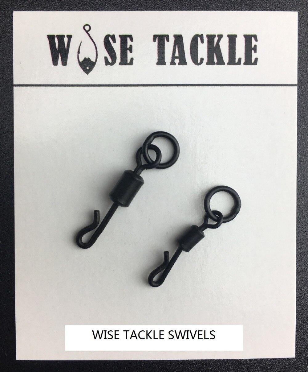 Quick Change Swivels x 50 Size 8 Matt Black Anti Glare Carp Fishing Tackle Rigs