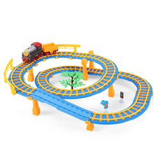 Creative Toys Electric Flashing Trains Model City Slot Track Set Trackmaster Miniature Vehicles Thomas And Friends Baby Gift