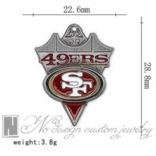 San Francisco super bowl american football world championship contenders 49ers team charms chains dangle pendants ON SALE NE0944