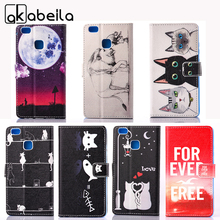 AKABEILA Leather Mobile Phone Case For Huawei P9 Lite P9 Mini G9 G9 Lite VNS-L21 VNS-L22 VNS-L23 VNS-L31 Covers Bags Shield(China)