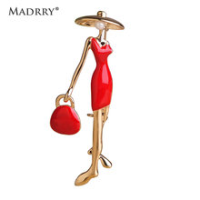 Madrry Fashion Pretty Girls Brooches Enamel Craft Collar Clips Scarf Buckle Sexy Women Handbag Girls Gold Hijab Pin Accessories(China)