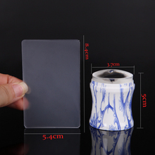3.7cm Nail Art Stamper Stamping Scraper Template Seal Hollow Plastic Handle Silicone Head Gel Polish 3D Image Transfer Manicure