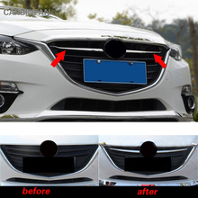 front mesh Hood Grille cover Trim Car front engine cover Trim for Mazda 3 Axela 2014 2015 2016 car exterior accessories P235(China)