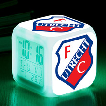 Holland Soccer Club LED Alarm Clock reloj despertador reveil enfant Night Light LCD Display Watch FC Utrecht Digital Clock(China)