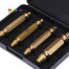4pcs Titanium Broken Bolt Damage Screw Remover Extractor Drill Bits Easy Out Stud Reverse(China)