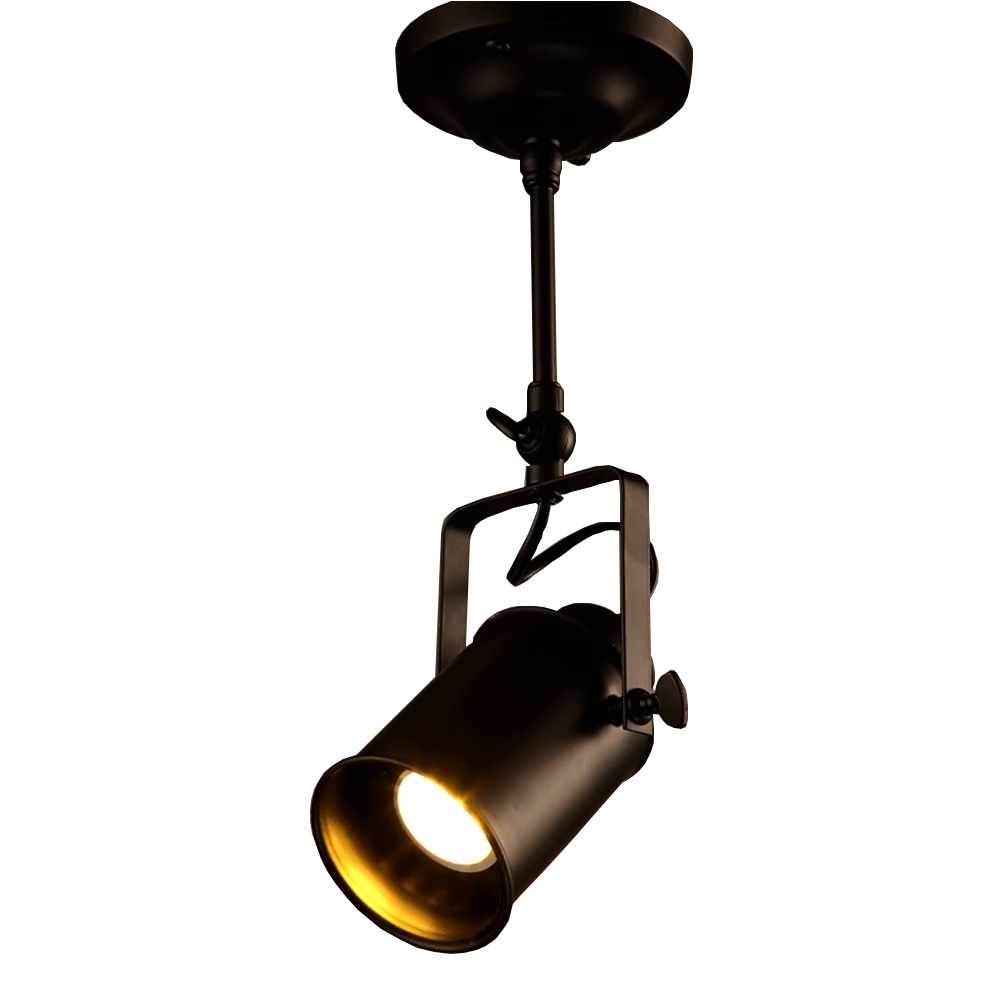 Personality Creative Loft Bar Wall Probe Industrial Pendant Light Black Track Lights Spotlights Clothes Store Ceiling Lamp<br>