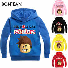 Roblox Hoodies Shirt 대 한 Boys Sweatshirt Red Noze 날 마치 남자들 한복 어린이 Sport Shirt 스웨터 대 한 Kids 긴 Sleeve T-shirt 탑(China)