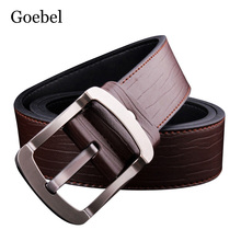 Goebel Leather Man's Belt Business Pin Buckle Fashion Casual Men Belt Casual All-Match Pu Leather Luxury Belts For Mans(China)