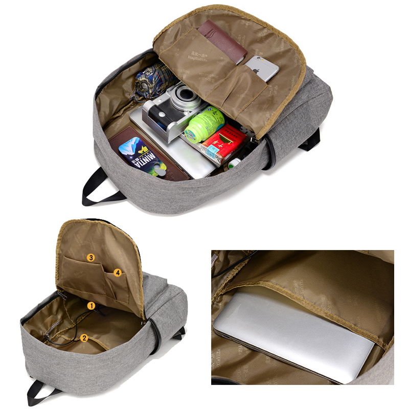 حقيبة مدرسية سوداء USB 7