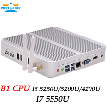 Partaker B1 Intel Mini PC Fanless I5 5250U 5200U 4200U 5th Gen I7 5550U Haswell HTPC Cloud Terminal VGA HDMI PC Free Shipping