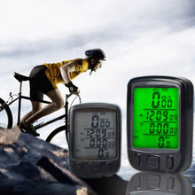 Waterproof LCD Display Cycling Bike Bicycle Computer Odometer Speedometer with 24 Functions IC528