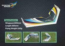 "Free Shipping Sales ZAGI Plane RC Airplane 31"" Delta Wing EPP Airplane Model Rainbow Fly Wing 800mm Wingspan(China)"