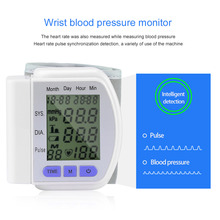 2017 Hot Digital LCD Automatic Wrist Blood Pressure Monitor Heart Beat Rate Pulse Meter Measure Retail & Wholesale Fashion