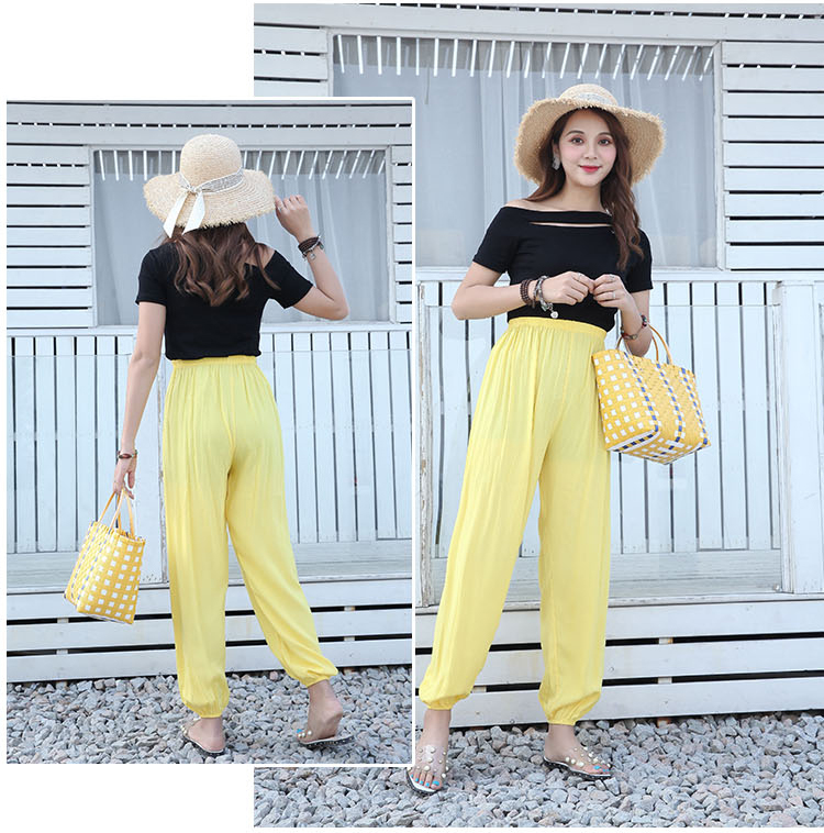 Baggy Pants Women Plus Size Women Pants 19 Summer Women Solid Color Casual Loose Harem Pants Trousers Pantalon Femme Pantalon 22