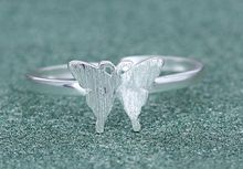 Resizable Ring 925 Sterling silver butterfly ring opening retro cute jewelry manufacturers, wholesale jewelry