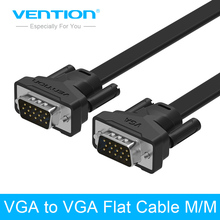 Vention VGA to VGA Cable Male to Male 15 Pin Extension Monitor Cable High Premium HDTV VGA Cabo 1m/2m/3m/5m/8m(China)