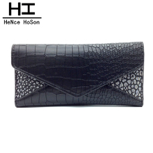 HeNce HoSon New Arrival Fashion Long Coin Purses Women Purse Ladies Medium Alligator Clutch Bag Woman Wallet Free Shipping A2037