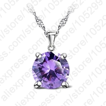 OL CZ Chain Necklaces  925 Sterling Silver Pendant Necklace  Fashion Brand Crystal Party/ Wedding Jewelry For Women