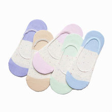 Fashion Women Socks High Quality 5 Pairs/lot Cotton Summer Socks Candy Invisible Slippers Shallow Mouth Show Socks
