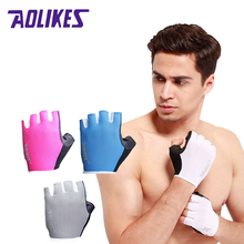 2017 New Women/Men Gym Gloves Body Building Training Sport Fitness Gloves Exercise Weight Lifting Gloves Men Gloves Women(China)