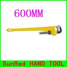"BESTIR taiwan brand yellow handle HRC58-60 600MM 24"" Plumbing Tools pipe wrench,NO.10824 wholesale"