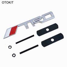 OTOKIT 3D TRD Logo Sticker Metal Emblem Badge Cool Car Sports Styling for Toyota Racing Car Front Grille Tuning Mount JDM Decal