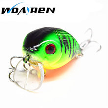 1Pcs 8g 5cm Hard Mini bait Spinner Minnow Chubby Lure Crankbait Baits Popper Hooks 3D Eyes Water Depth 0-0.5M 8Color FA-424(China)
