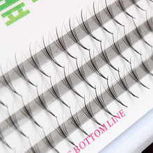 High quality5D Ultra Soft New Individual Mink Eyelash Flat hair Extension 60pcs Knot Free Cluster Eye Lashes Natural Makeup Tool