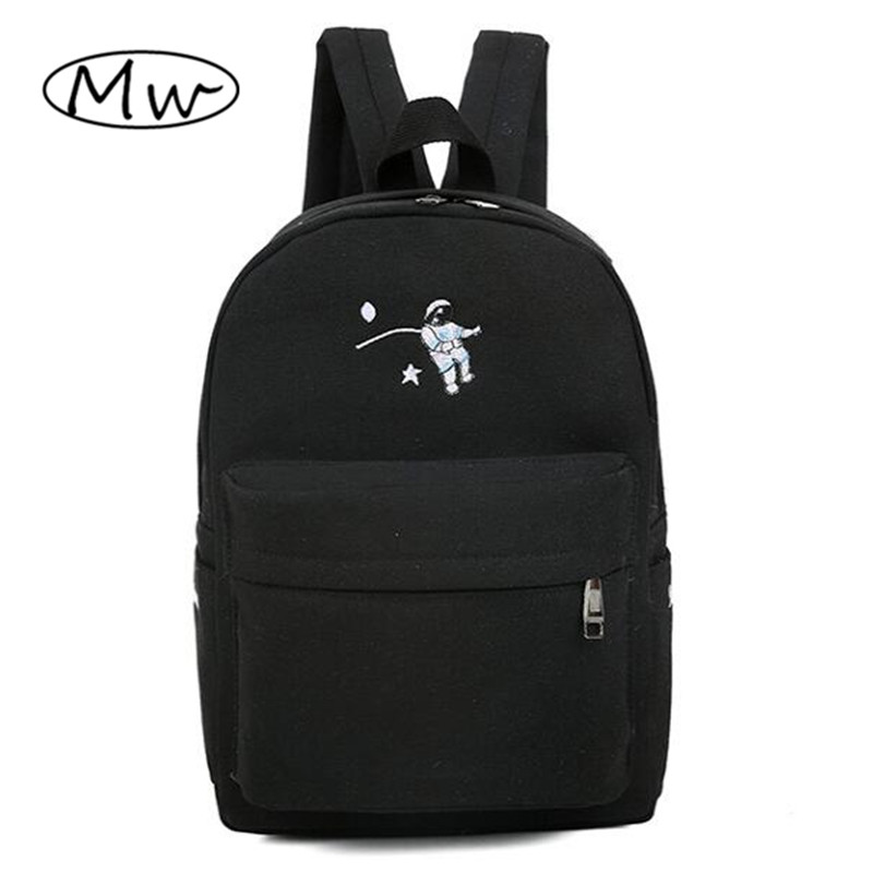 Funny embroidery printing backpack junior high school students schoolbag laptop bag back pack schoolbag for girls gift M111<br><br>Aliexpress